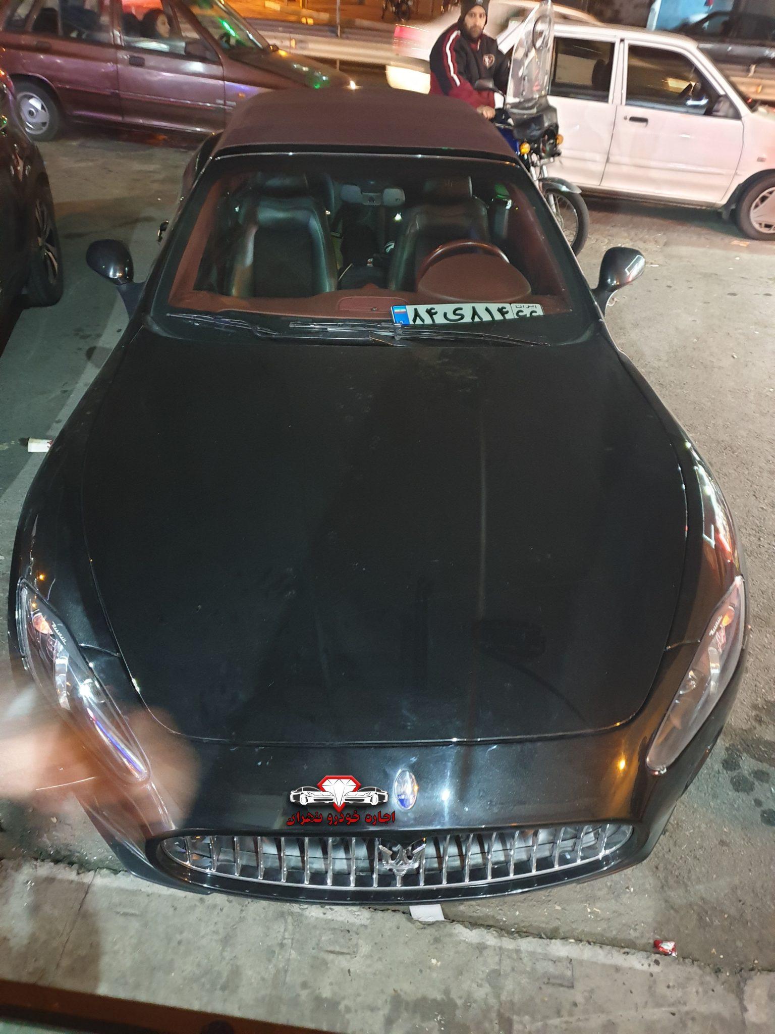 اجاره خودرو مازراتی گرن کابریو اس - ارزان ترین اجاره خودرو در تهران